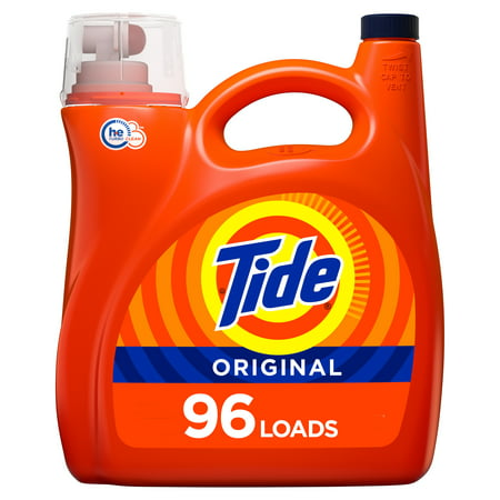 Tide Original HE, 96 Loads Liquid Laundry Detergent, 150 fl oz