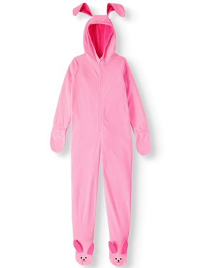 A Christmas Story Girls' Bunny One Piece Costume Pajama