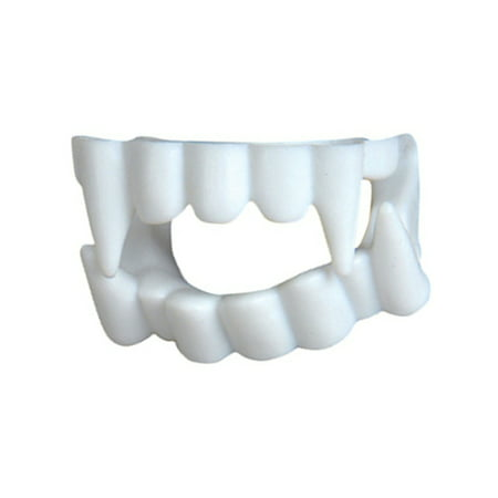 White Economy Plastic Costume Accessory Vampire Werewolf Fangs Teeth Kit](Vampire Couples Costumes)