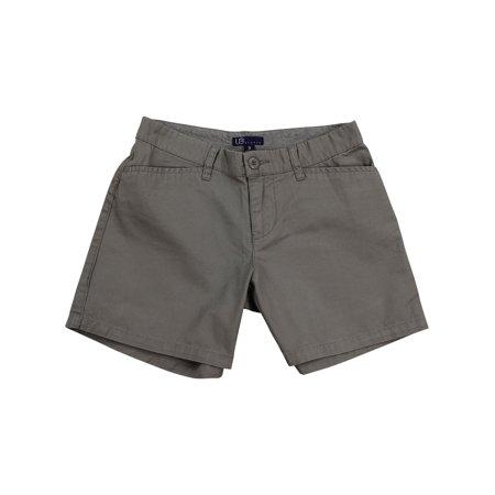 - Women's Flat Front Chino Shorts (Gray, 5