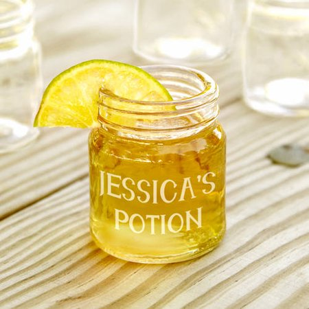Custom Mini Mason Jar Shot Glass, 2 - Personalized Shot Glasses Cheap No Minimum