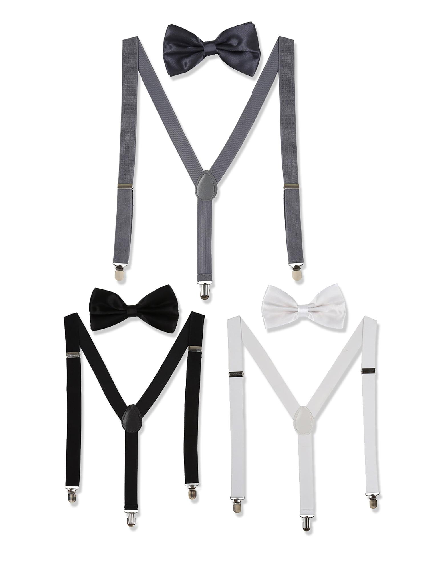 Bows-N-Ties Mens Suspenders Elastic Band 1 inch width adjustable length Y style suspenders