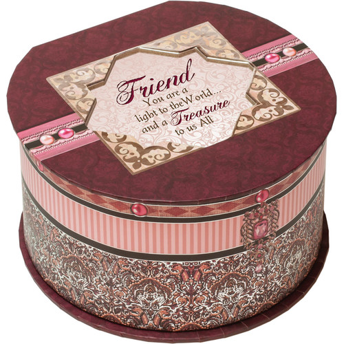 Cottage Garden Belle Papier Friend Round Box