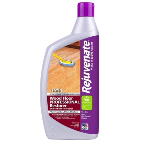 Rejuvenate Professional Wood Floor Restorer with Durable Satin Finish Non-Toxic Easy Mop On Application - 32 Ounces 3 Pack Non Buff Floor Finish