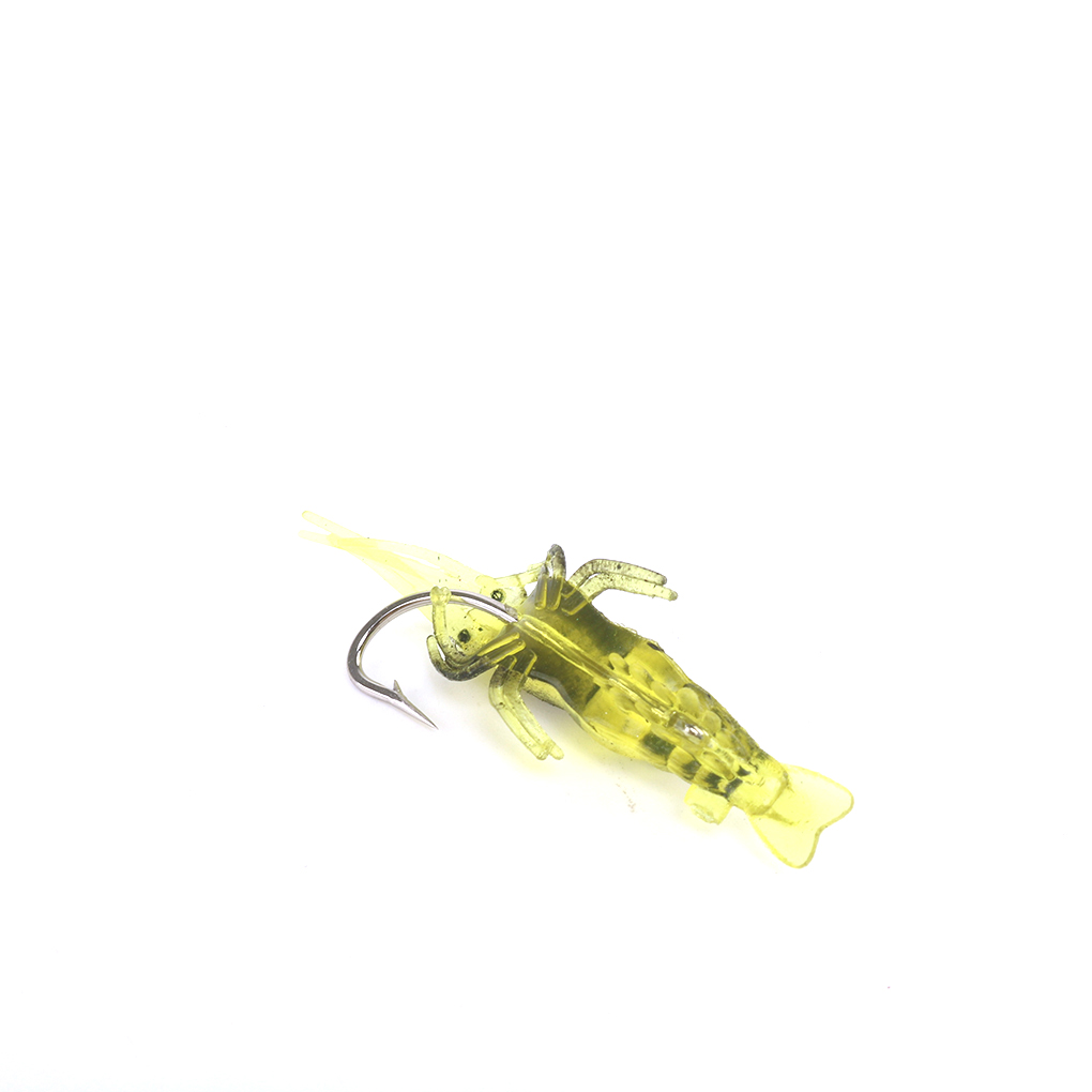 5pcs//lot Shrimp Fishing Lures Artificial Soft Insect Bait Silicone Baiha