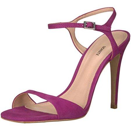 SCHUTZ Women's Jade Heeled Sandal, Grape, (9.5) (9.5)