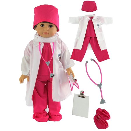Hot Guy Nurse (Hot Pink Doctor or Nurse 7 pc Set - DOLL NOT INCLUDED)
