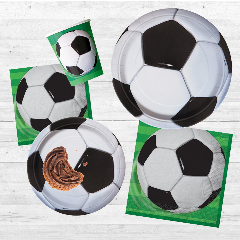 Soccer Ball Black White Goal Sports Theme Party Decoration Plastic