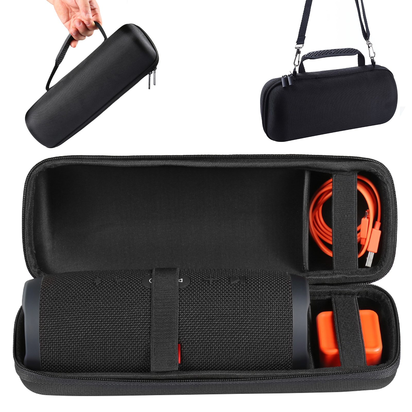 EVA Waterproof Hard Travel Carrying Case Storage Bag for JBL Charge 3 Bluetooth Wireless Speaker Fit USB Cable and Charger