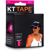 KT TAPE Original Cotton Elastic Kinesiology Therapeutic Sports Tape, 16 Ft Uncut Roll, Pink, Latex Free, Breathable, Pro & Olympic Choice