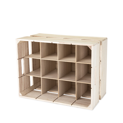 Wooden Crate Wine Rack by True by True Brands