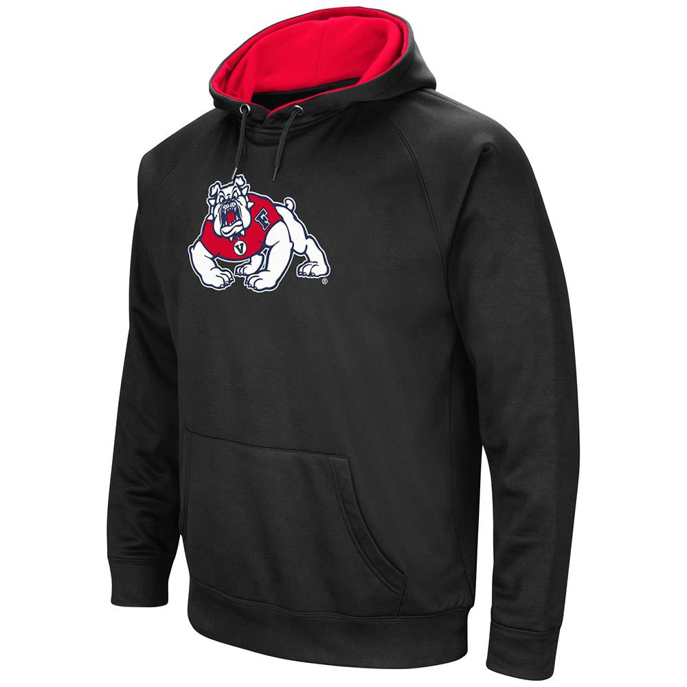 Mens Fresno State Bulldogs Black Pull-over Hoodie by Colosseum