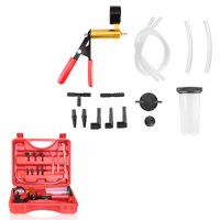 iMounTEK Auto Vacuum Pump Tester Set Vacuum Pump Brake Bleeder Kit Vacuum Gauge Test Tuner Tools with Adapters Carrying Case