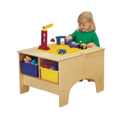 Kydz Building Table - Lego® Compatible Without Tubs-Compatibility:Clear Tubs