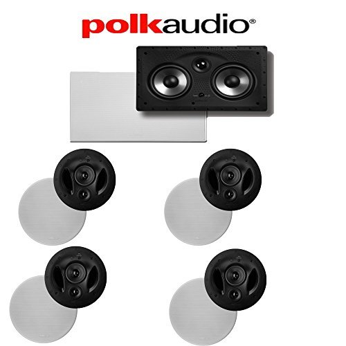 (4) Polk Audio 90-RT + (1) Polk Audio 255C-RT 5.0 High Performance In-Wall   In-Ceiling Home Theater System by Polk Audio