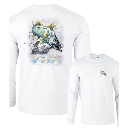 (Jumping Snook Sergeant Fish Robal Fishing Long Sleeve T-Shirt)