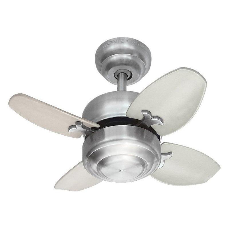 Monte Carlo 4MC20BS Mini 20 20 in. Indoor Ceiling Fan - Brushed Steel