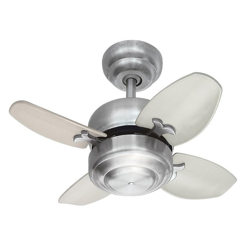 Captivating Monte Carlo 4MC20BS Mini 20 20 In. Indoor Ceiling Fan   Brushed Steel Images