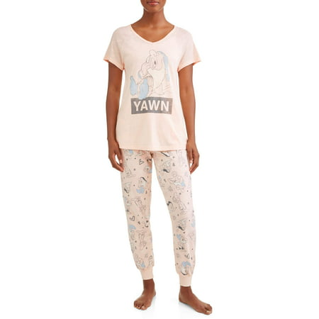 Women's and Women's Plus Snow White and the Seven Dwarfs Pajama Pant Set