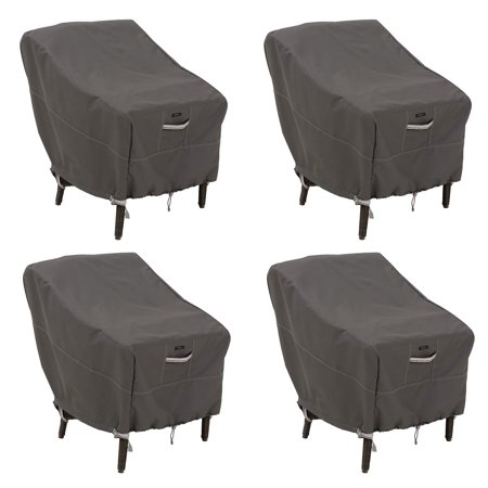 Classic Accessories Ravenna Water-Resistant 25.5 Inch Patio Chair Cover, 4 Pack Ravenna 28 Light