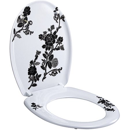 Designer Toilet Seat Black White Toilet
