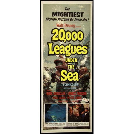 20000 Leagues Under The Sea Movie Poster Insert 14x36