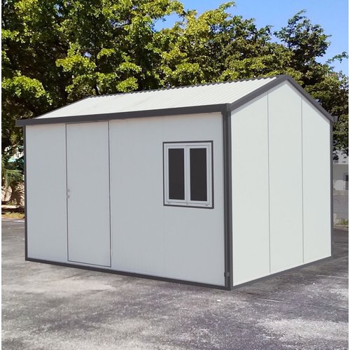 Duramax Building Products Gable 13.5 ft. W x 10.5 ft. D Metal Storage Shed