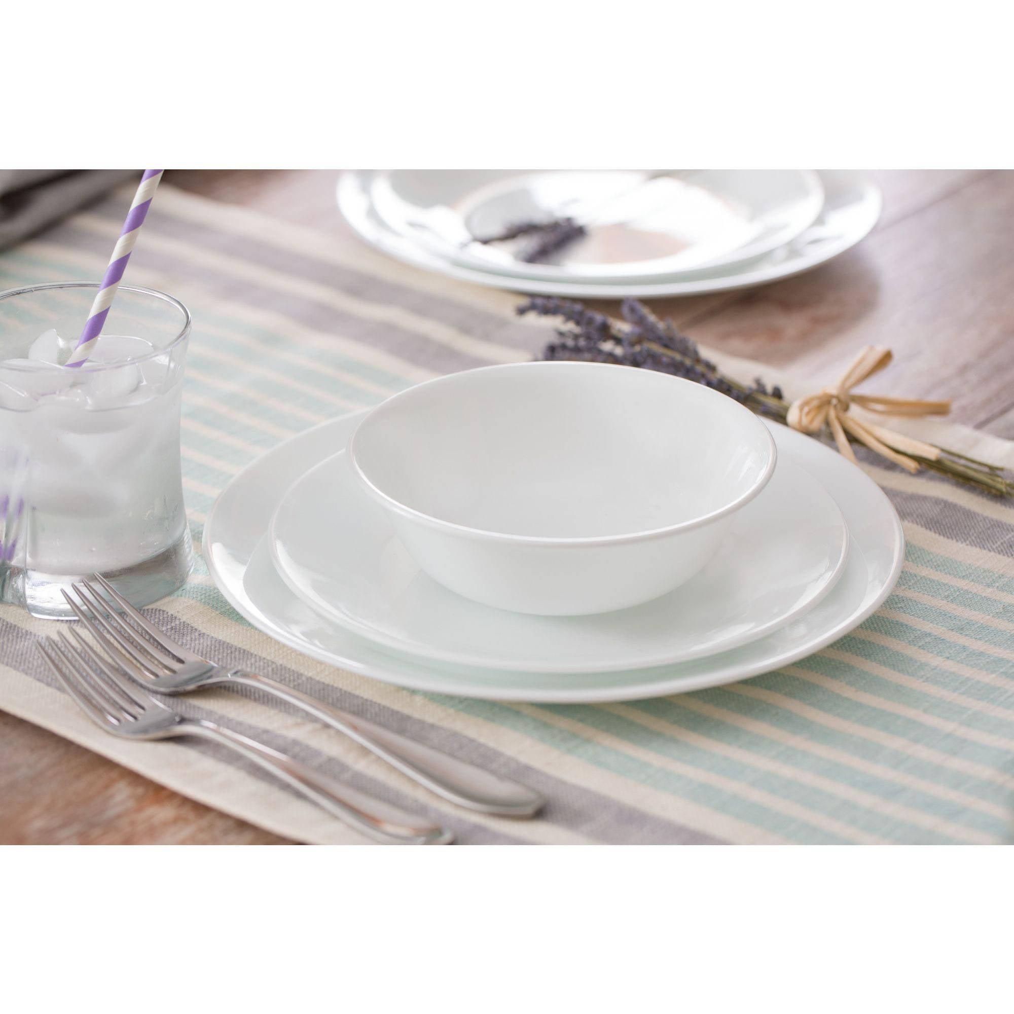 Corelle Livingware Winter Frost 16-Piece Dinnerware Set
