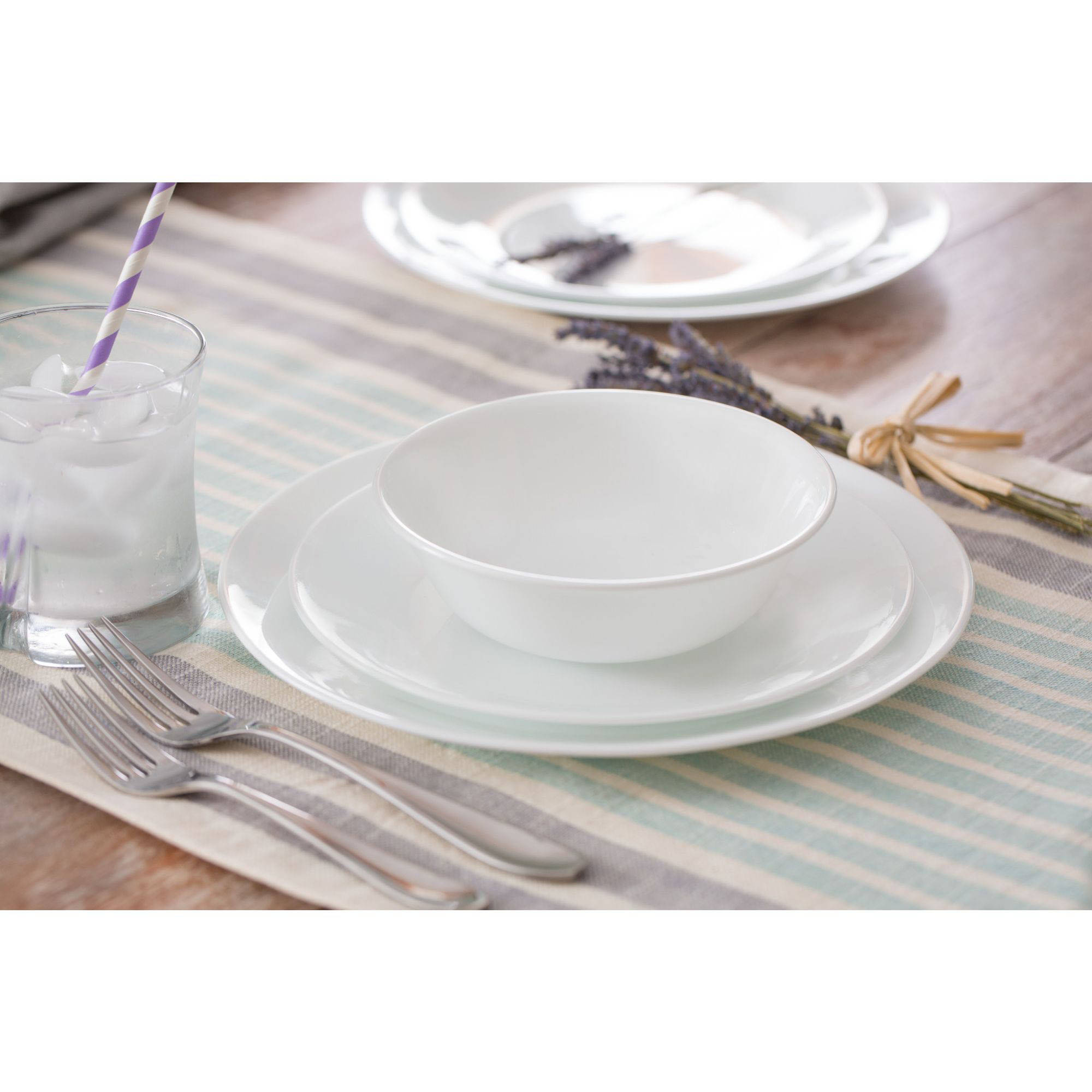 Corelle Livingware Winter Frost 16-Piece Dinnerware Set