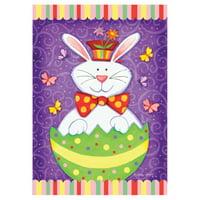 Toland Home Garden Bunny Surprise Flag