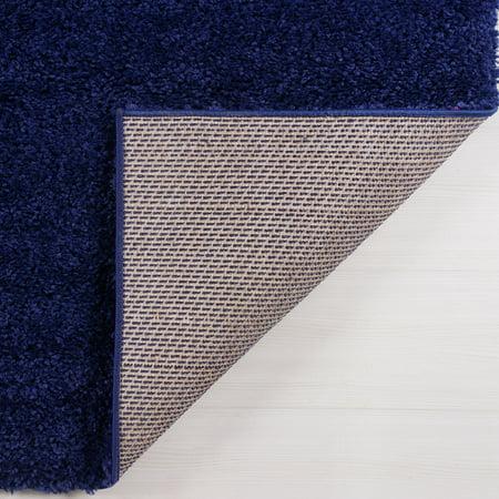 "Ladole Rugs Solid Color Shaggy Meknes Durable Beautiful Turkish Indoor Area Rug Carpet in Navy Blue 7'10"" x 10'5"" - image 3 de 4"
