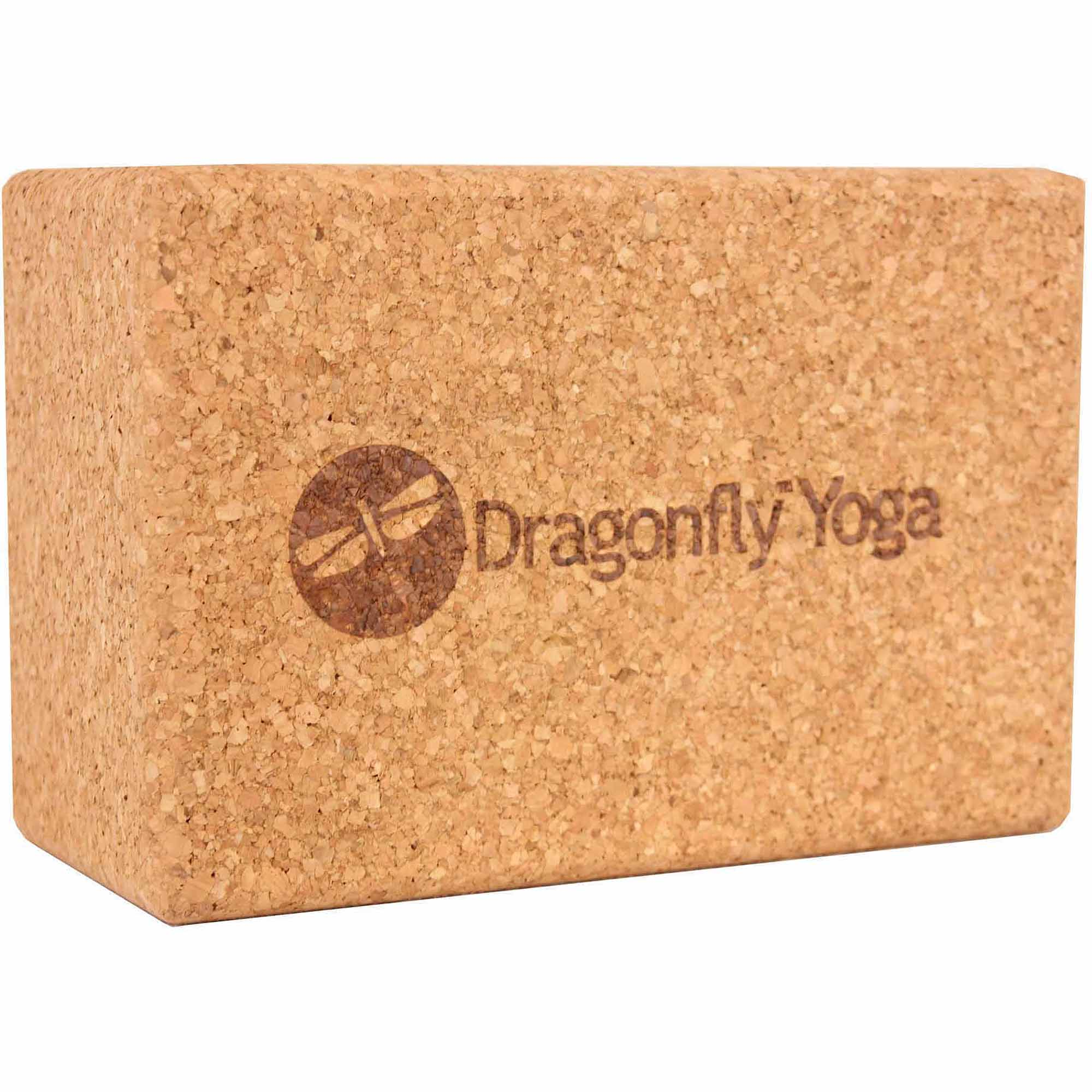 "Dragonfly Yoga 4"" Cork Yoga Block"