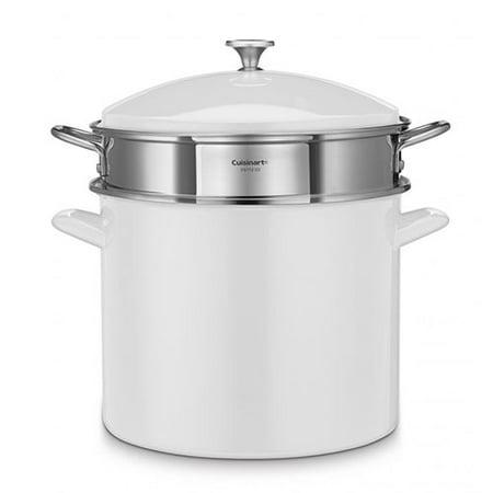 Cuisinart EOS206-33WS Chef's Classic Enamel Steel 20 Qt Stockpot w/Cover -