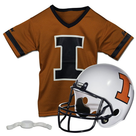 Illinois Cycling Jersey - Franklin Sports NCAA Illinois Fighting Illin Jackets Helmet Jersey Set