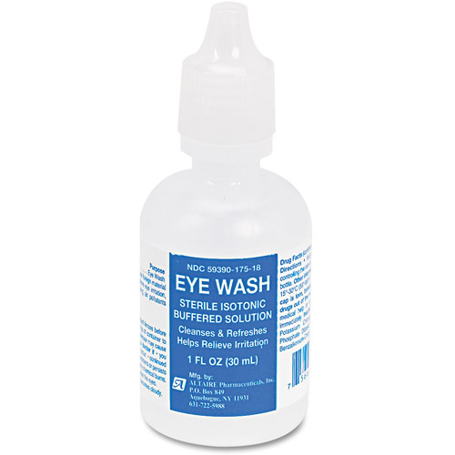 First Aid Only Eye Wash, Twist-Top Bottle, 1 fl oz