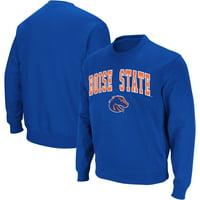 Boise State Broncos Colosseum Arch & Logo Crew Neck Sweatshirt - Royal