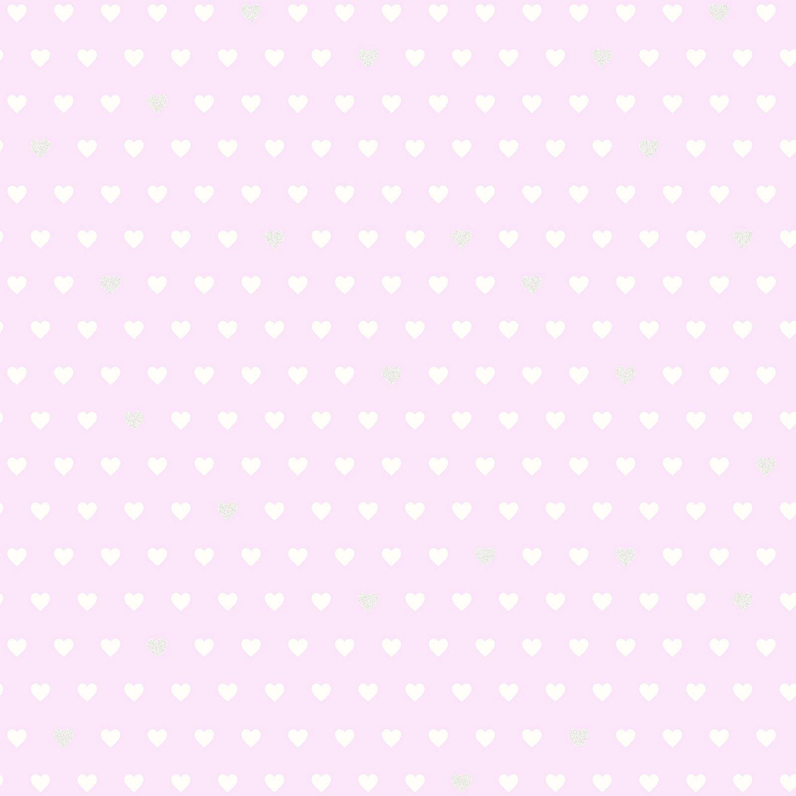 Brewster Small Hearts Purple Hearts Wallpaper