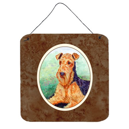 Airedale Terriers (Airedale Terrier Wall or Door Hanging Prints 7239DS66 )