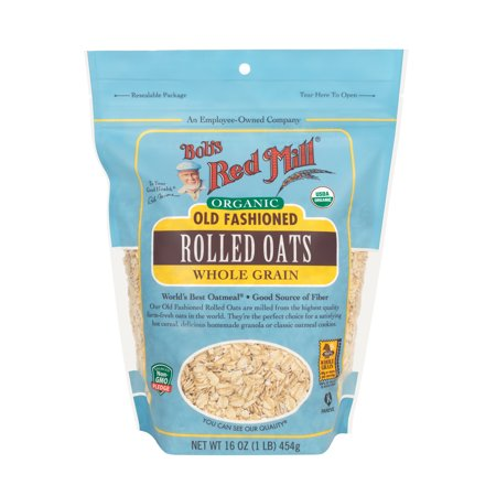 Bob's Red Mill Organic Rolled Oats, Old Fashioned, 32 Ounce 32 Ounce Red Nectar