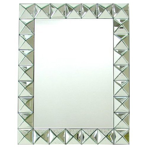 Beveled 3D Rectangular Wall Mirror - 32W x 35H in.