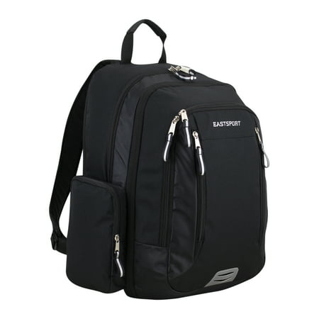 Eastsport Spacious XL Expansion Backpack, Black Ripstop