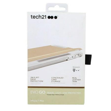wholesale dealer c3cb2 d133d Tech21 Evo Go Leather Trim Case for iPhone 7 Plus - Beige - Walmart.com