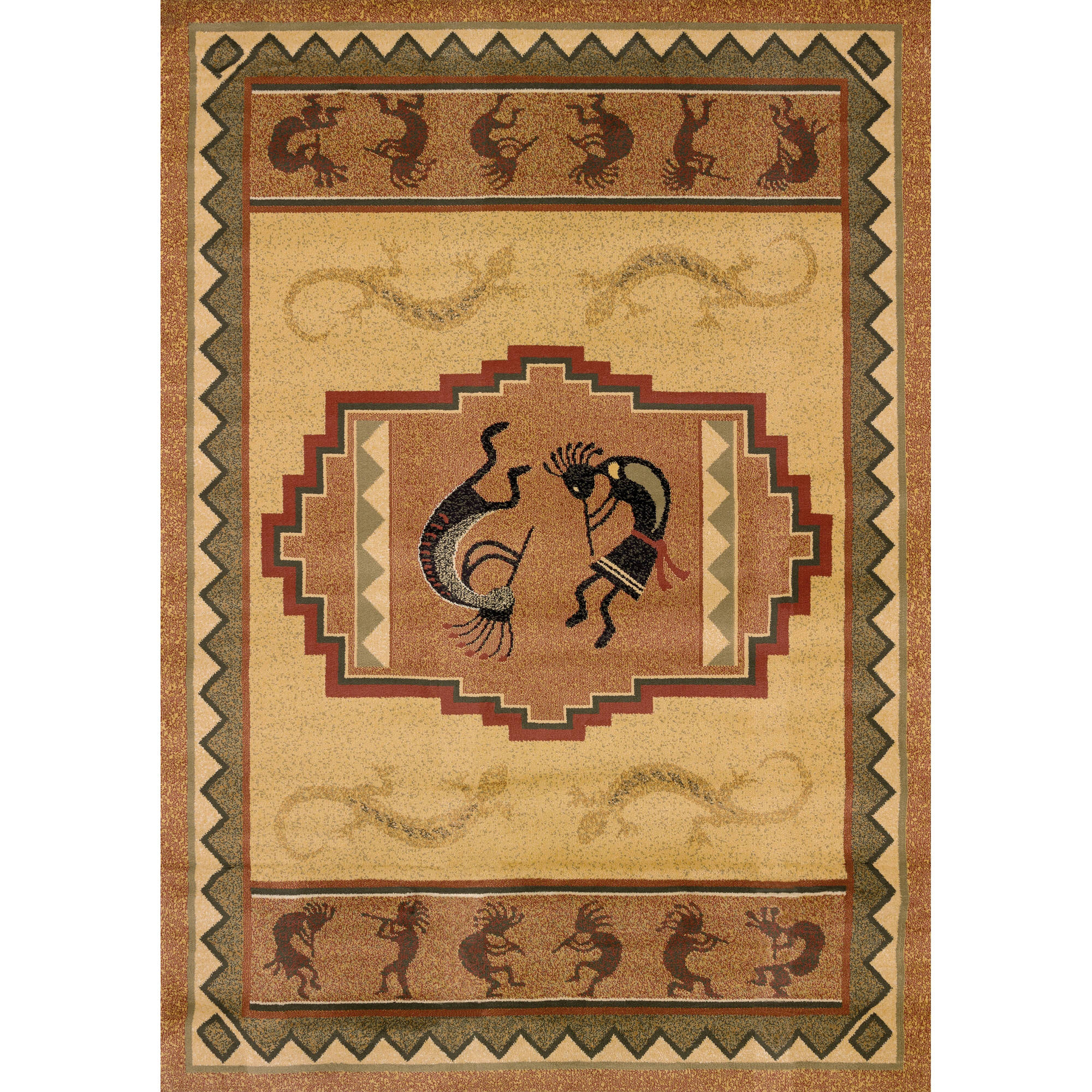 United Weavers Big Timber Ancient Music Natural Woven Polypropylene Area Rug or Runner