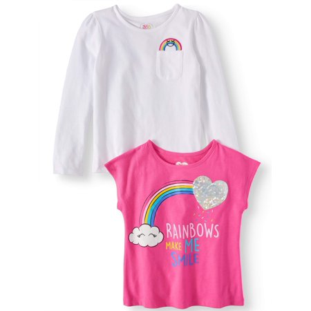 - Long Sleeve and Short Sleeve Tees, 2-Pack (Little Girls & Big Girls)