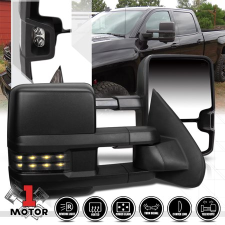 [Pair]Power+Heated Towing LED Signal Side Mirror for 14-17 Silverado/Sierra 2500 15 16