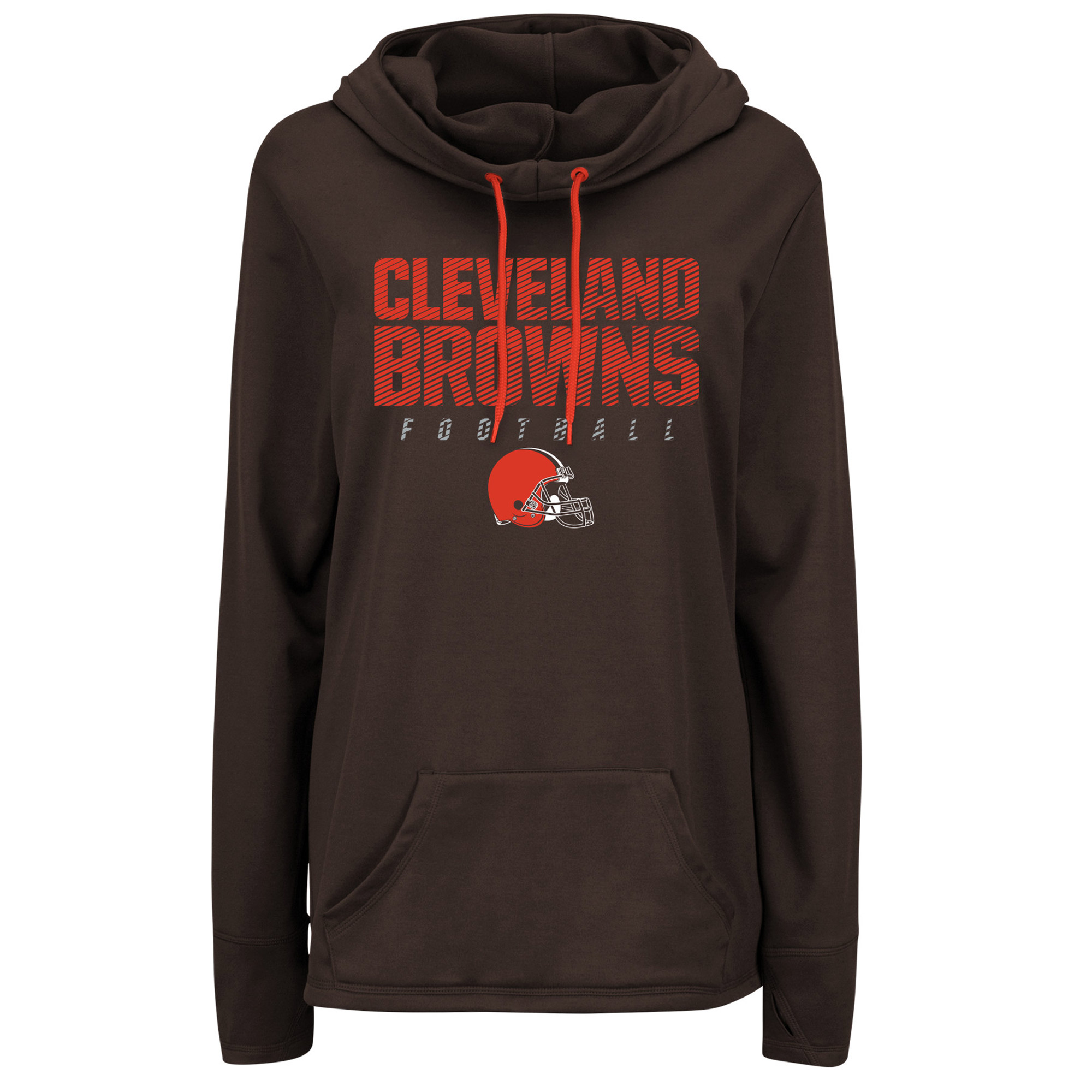 Cleveland Browns Majestic Women's Speed Fly Pullover Hoodie - Brown