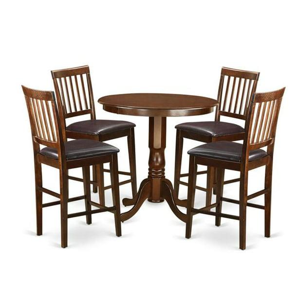 High Table & 4 Bar Stools with Backs, Jackson - Walmart.com