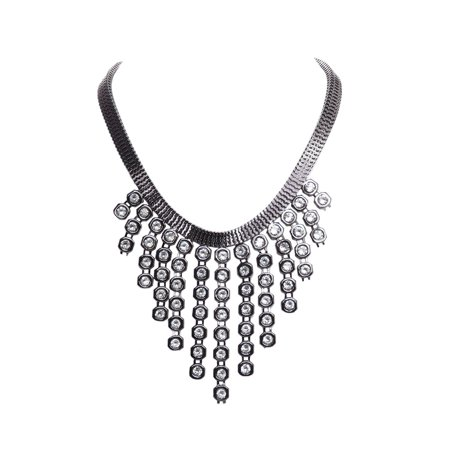 Silver Statement Necklaces for Women Journey Choker Necklace Fashion Statement Jewelry