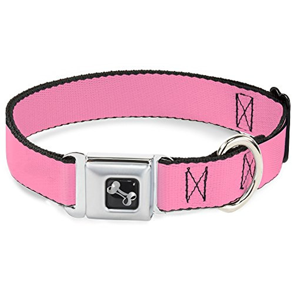 Buckle-Down Baby Pink Dog Collar Bone