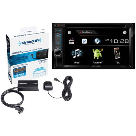 """Kenwood DDX373BT 6.2"""" Double-DIN DVD Receiver With Bluetooth with BONUS Sirius-XM SXV300V1 SiriusConnect... by"""
